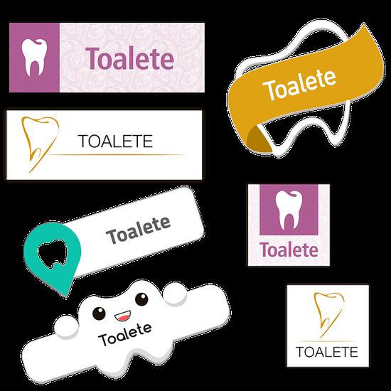 Placa p/ Toalete