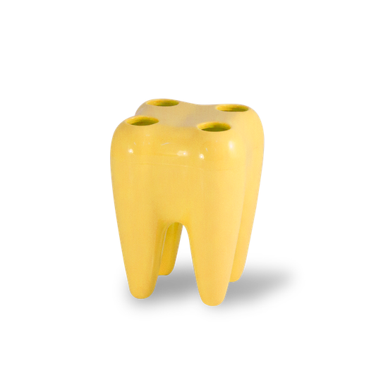 Porta Escova Dentfun - Amarelo