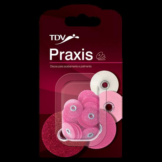 Praxis Refil 3/8'' - Discos de Lixa Média