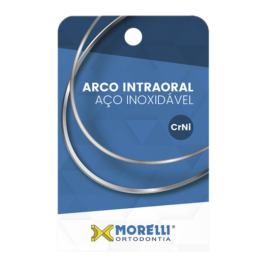 Arco CrNi Quadrado 0,40x0,40mm - 0.016''x0.016'' Inferior 10 Unid. - 50.71.001