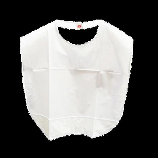 Babador Plástico Branco - Adulto