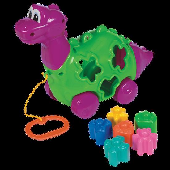 Brinquedo Baby Dino c/ Blocos e Puxador