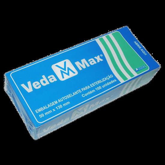 Envelope Esterilização Autosselante - 50 x 130 mm c/ 100 Unidades