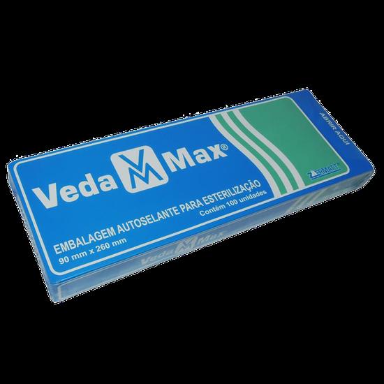 Envelope Esterilização Autosselante - 90 x 260 mm c/ 100 Unidades