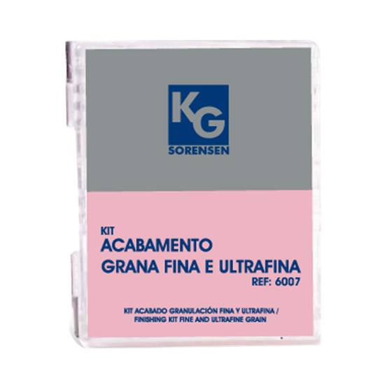 Kit Acabamento Grana Fina e Ultrafina