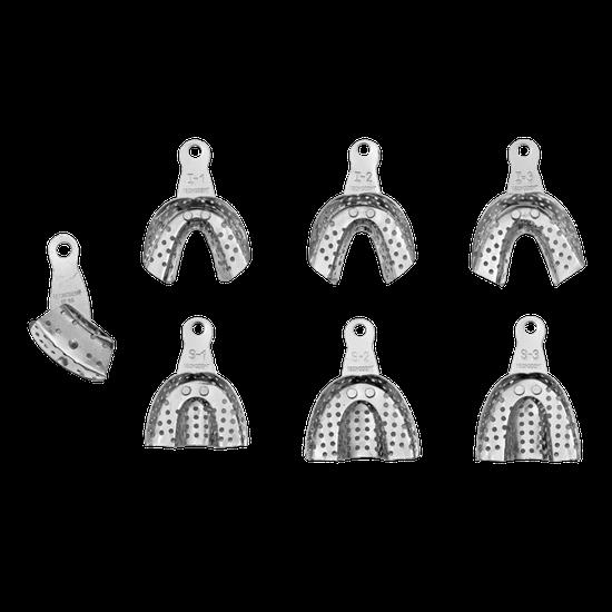 Moldeira Alumínio Infantil Perfurada - 7 Unidades