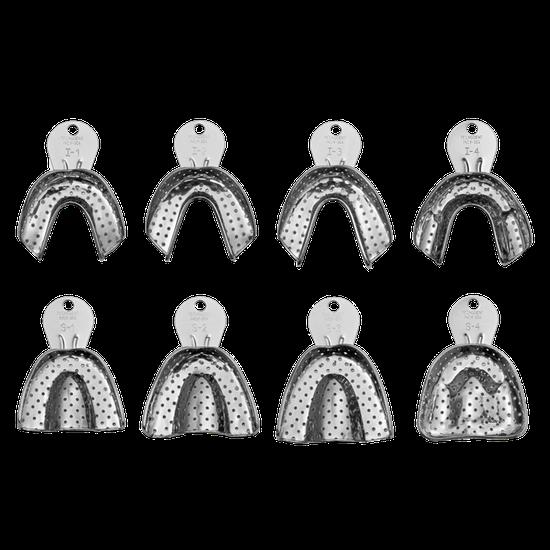 Moldeira Inox Adulto Perfurada - 8 Unidades