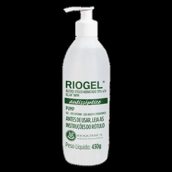 Álcool Antisséptico Riogel c/ Pump - Refil Gel 70% 430g