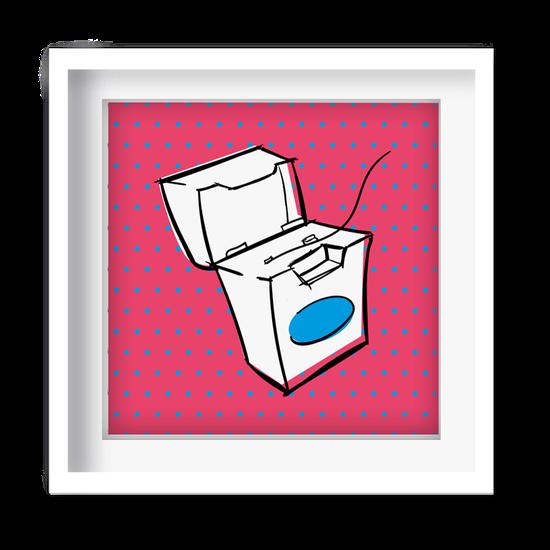 Quadro Decorativo - Fio Dental Pop