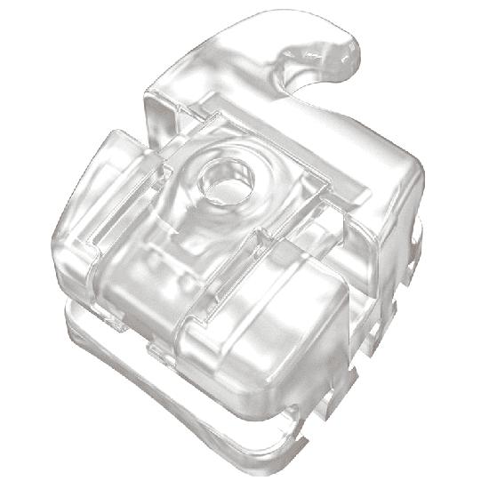 Bráquete Cerâmico Autoligado Slide H5 MBT Slot 0,022' - Canino Sup Esq c/ Gancho 7°T 8°A - Dente 23