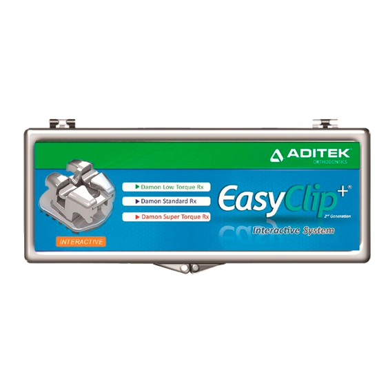 Bráquete Met. Autolig. Easyclip+ Interativo Damon 0,022'' - Rep.