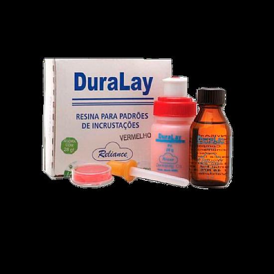 Resina Duralay - Estojo Completo Vermelho