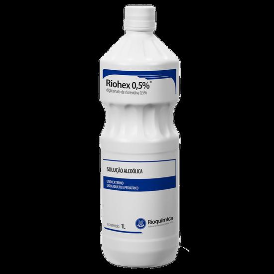 Álcool Antisséptico Riohex 0,5% - (Clorexidina) Solução Álcoolica 1L