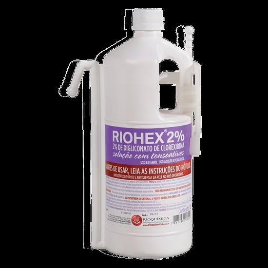 Antisséptico Riohex 2% (Clorexidina) Solução Dergemante c/ Dispensador 1L