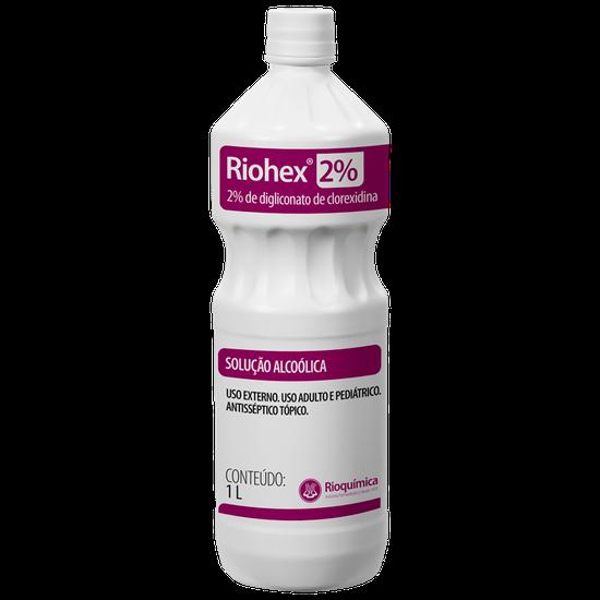 Riohex 2% -  Solução Alcoólica - 1L