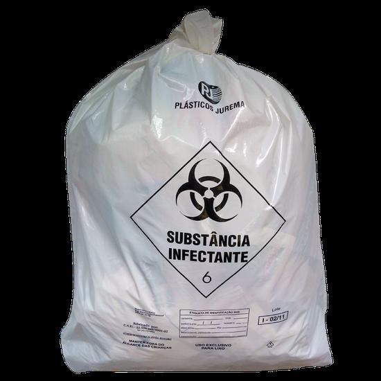 Saco p/ Lixo Hospitalar 15L/4,50kg - 100 Unidades