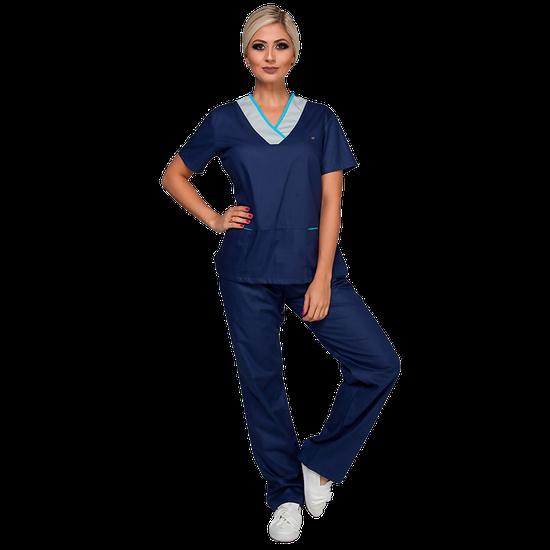Pijama Cirúrgico Feminino Fashion Blue
