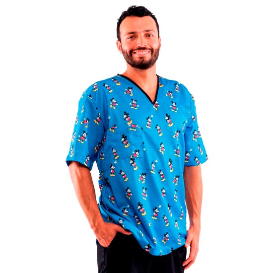 Pijama Cirúrgico Masculino Disney Mickey Mouse - XG