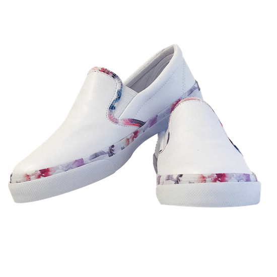 Tênis Walk Branco c/ Det. Floral - Nº 35