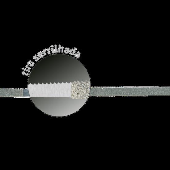 Tira de Aço Serrilhada c/ Óxido de Alumínio